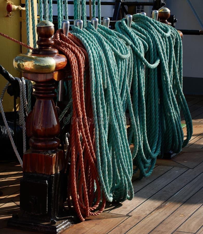 Calage d'un bateau de navigation photos libres de droits