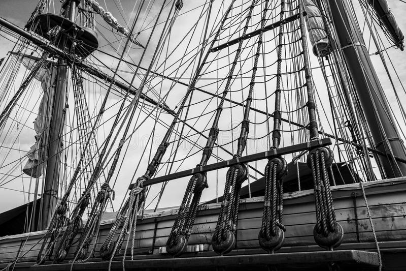 Calage grand de bateau image stock