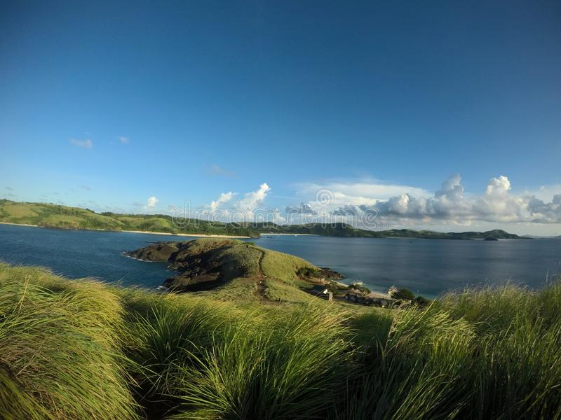 A view from the top of the mountain island. Calaguas, Camarines Sur. Daet and Paracale Towns. A safe haven. Fine Sand and clear waters. Little batanes royalty free stock images