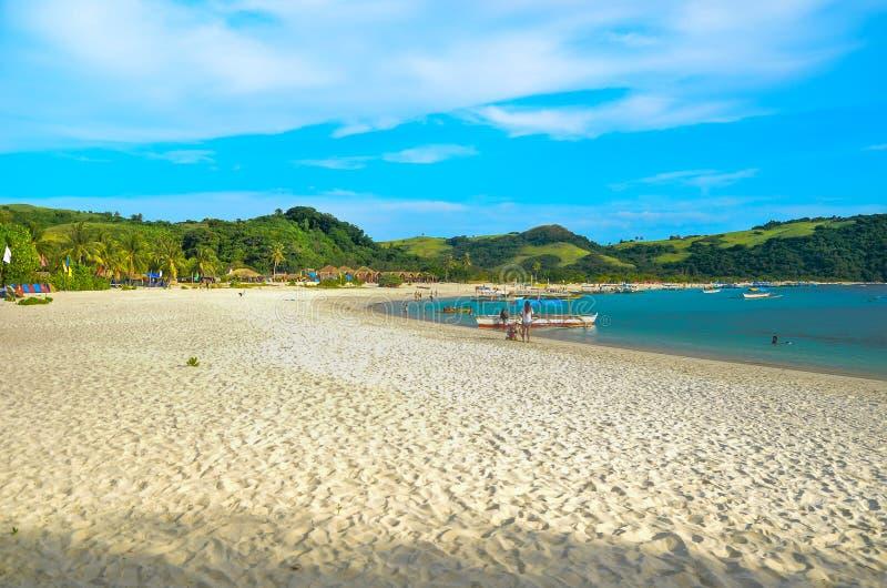 Calaguas strand royaltyfri foto