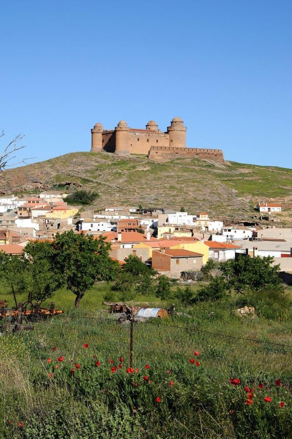 calahorra grodowy losu angeles Spain miasteczko obrazy stock