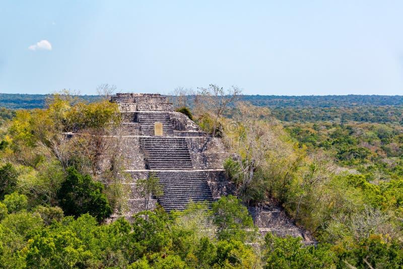 Calakmul, pyramide du Mexique photographie stock
