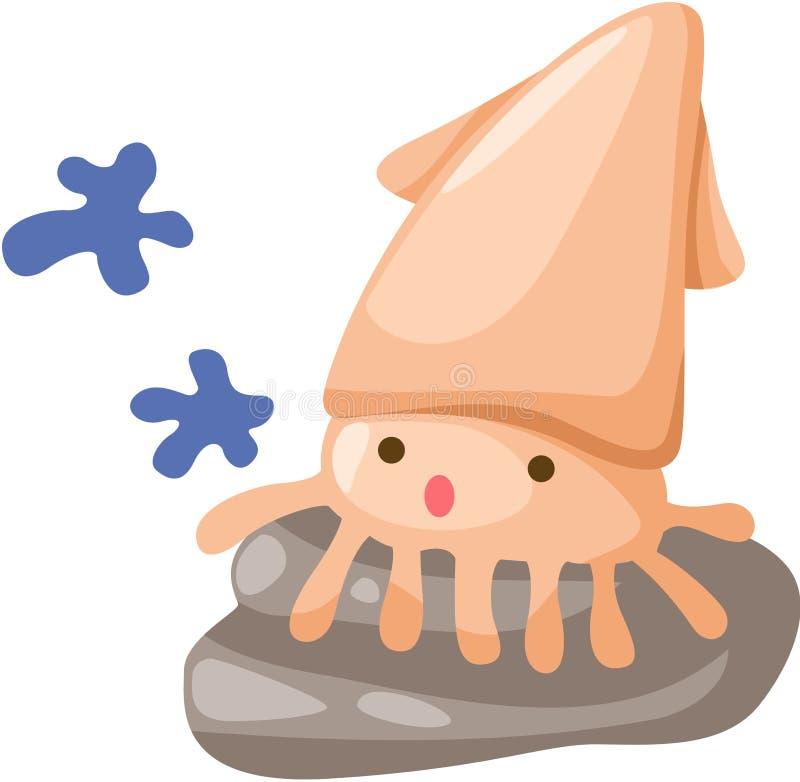 Calamar do bebê ilustração do vetor