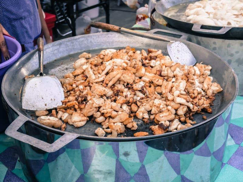 Calamar frito con pimienta del ajo fotos de archivo libres de regalías