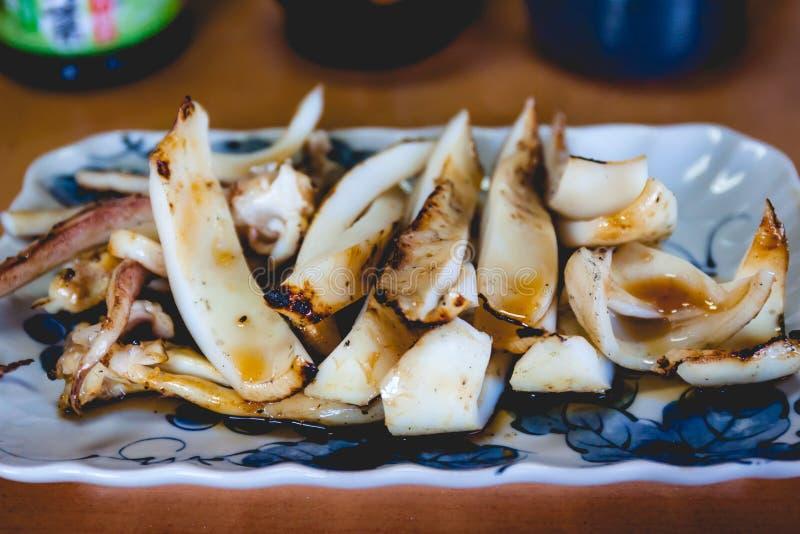 Calamar japonés asado a la parrilla fotos de archivo libres de regalías