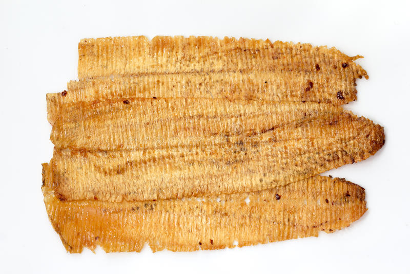 Calamar secado doce e picante imagens de stock