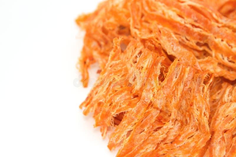 Calamar secado picante, aislante fotografía de archivo