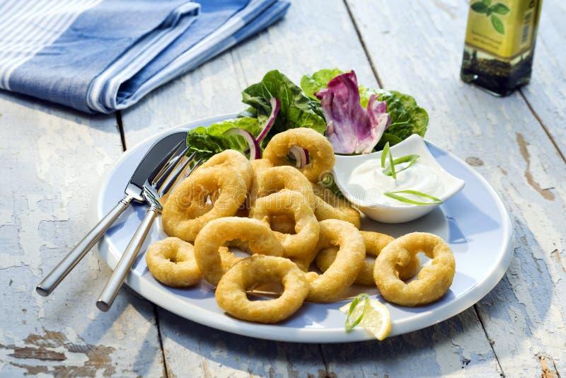 Calamaretti fritti meal royalty free stock image