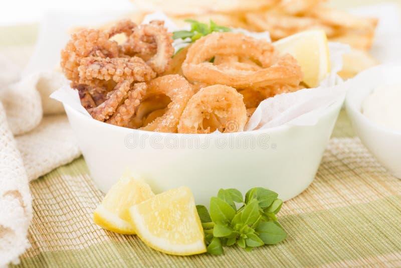 calamari imagen de archivo