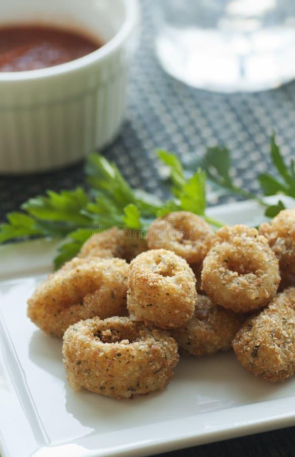 Calamari Appetizer stock photos