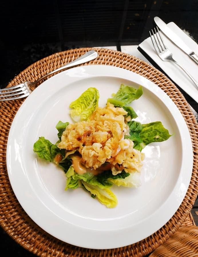 Calamari frit, hors-d'oeuvres d'apéritif image stock