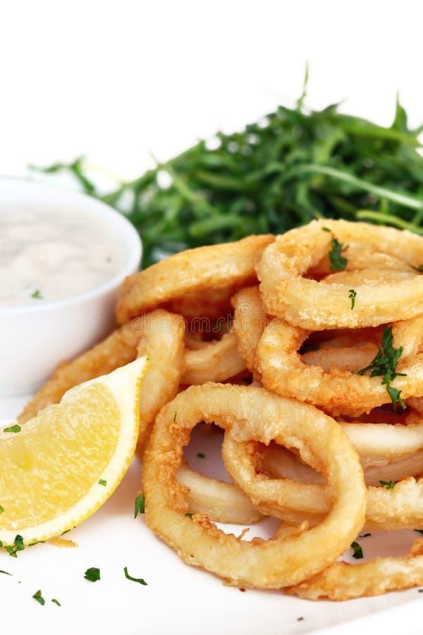 Calamari fritado imagem de stock