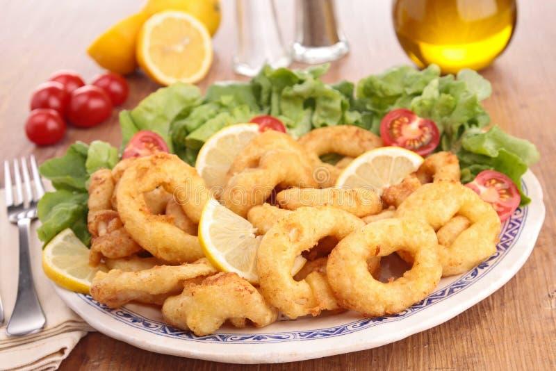 Calamari fritti fotografie stock