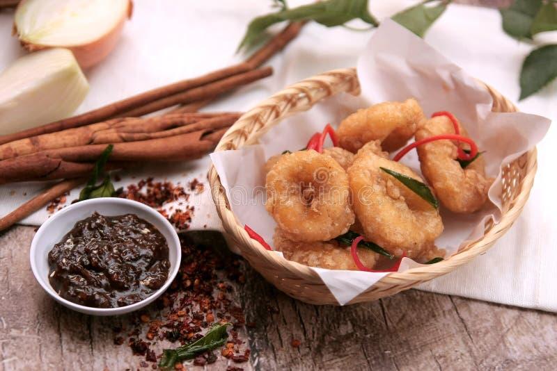 Calamari fritto fotografia stock libera da diritti