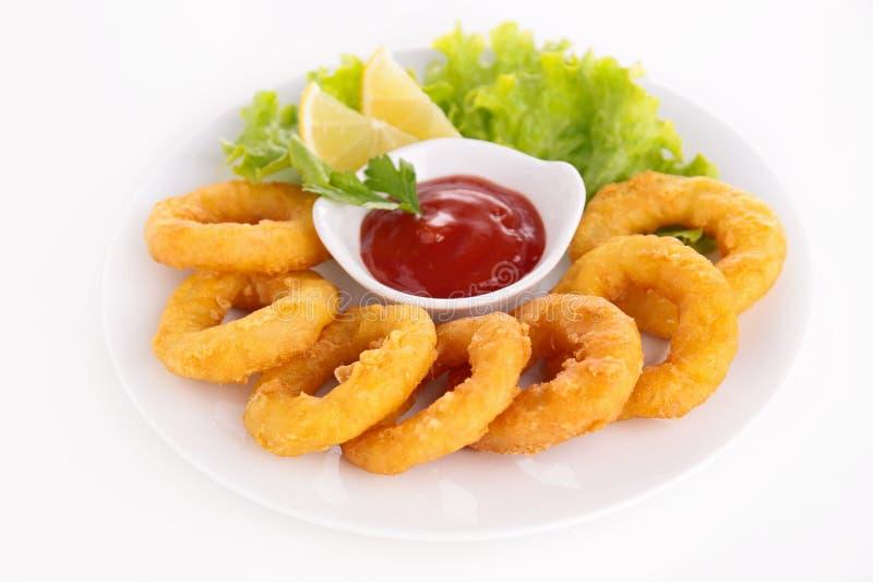 Calamari fritto immagini stock libere da diritti
