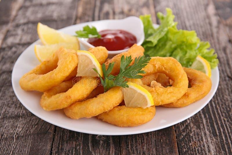 Calamari fritto immagine stock libera da diritti