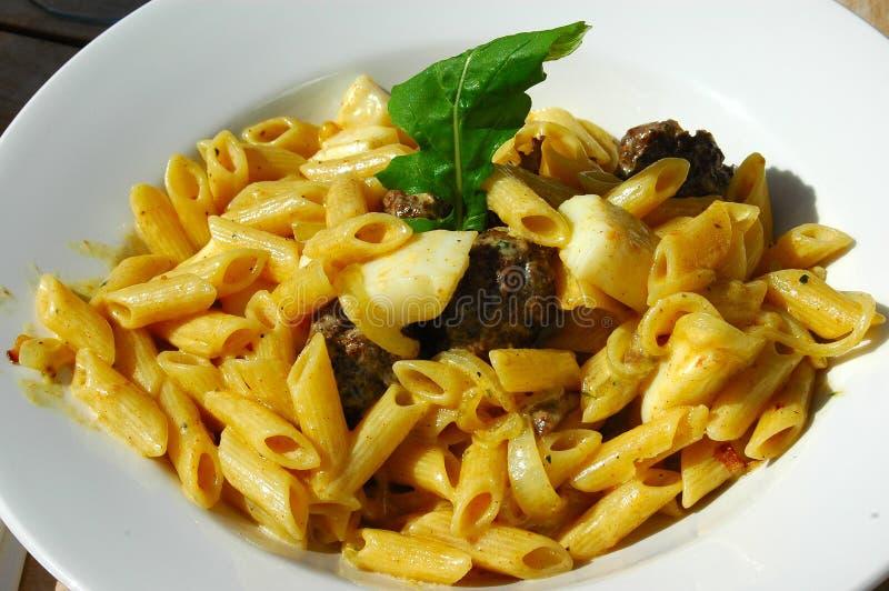 Calamari pasta stock images