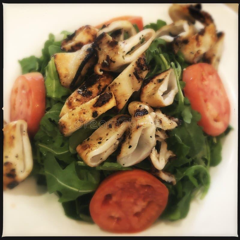 Calamari Salad fotografering för bildbyråer