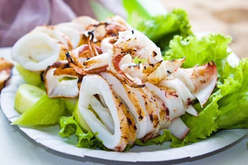 Calamaro cotto immagine stock