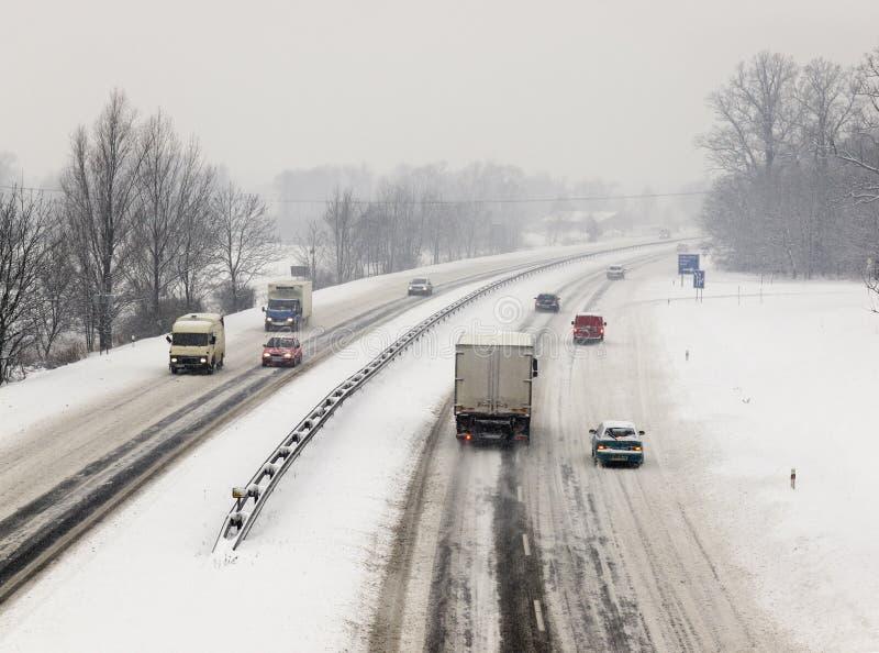 Calamité de neige images libres de droits