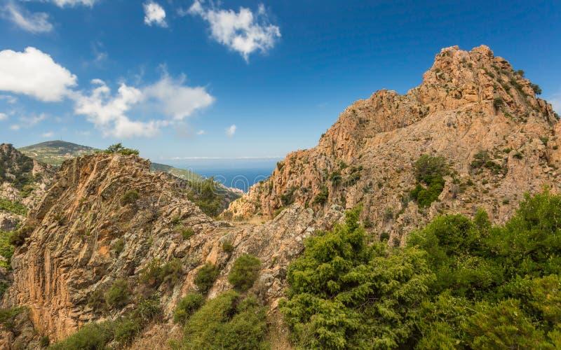 Calanches de Piana in Corsica royalty free stock photos