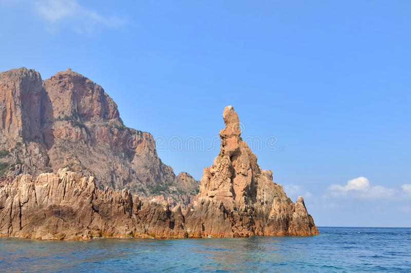 Calanches of Piana (Corsica) royalty free stock photography