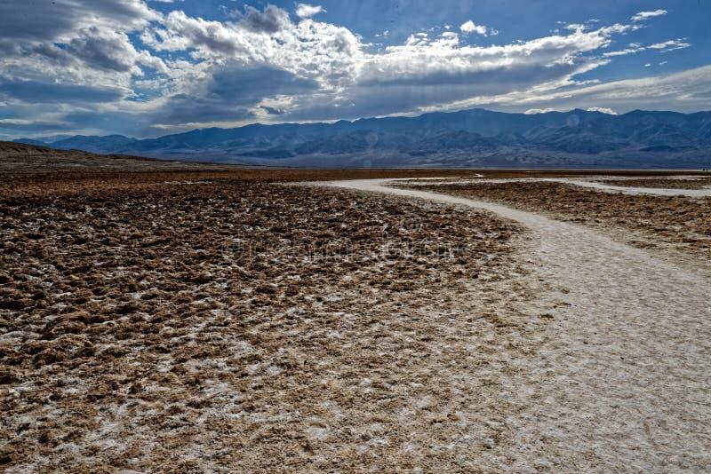 Calanchi, Death Valley, paesaggio di California immagine stock