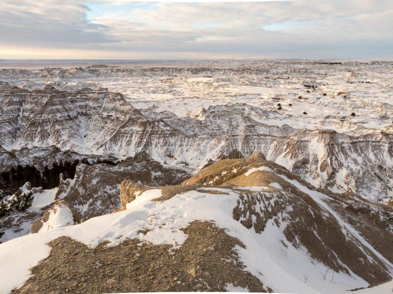 Calanchi nell'inverno fotografia stock libera da diritti