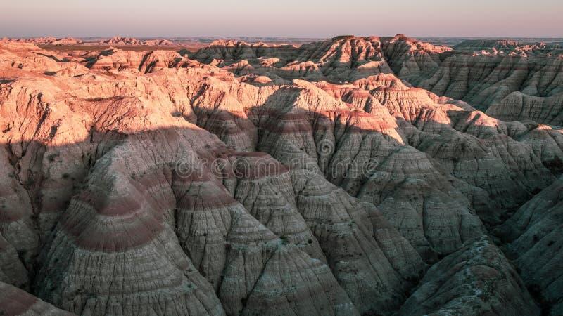 Calanchi sosta nazionale, il Dakota del Sud immagini stock