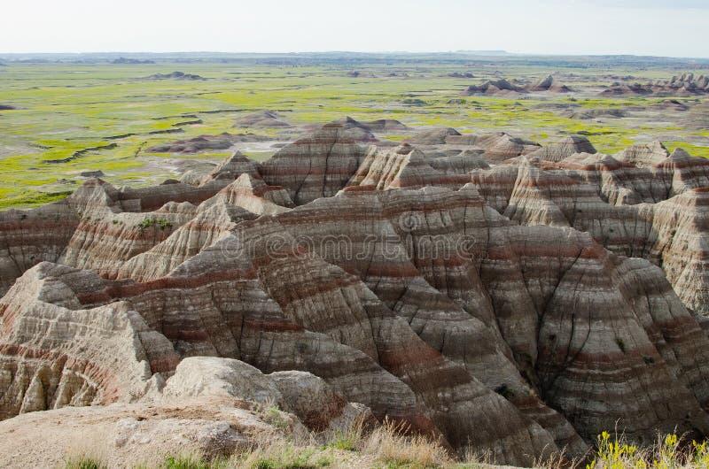 Calanchi sosta nazionale, il Dakota del Sud, S.U.A. immagine stock libera da diritti