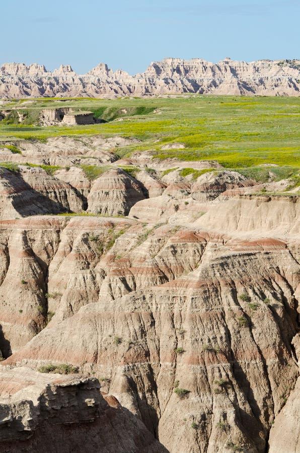 Calanchi sosta nazionale, il Dakota del Sud, S.U.A. immagine stock
