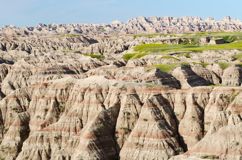 Calanchi sosta nazionale, il Dakota del Sud, S.U.A. fotografia stock libera da diritti