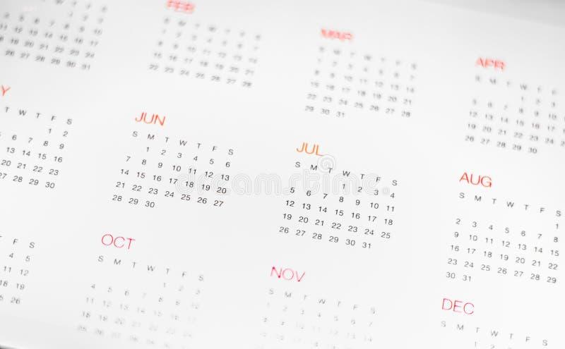Calander с днем & месяцем стоковые изображения rf