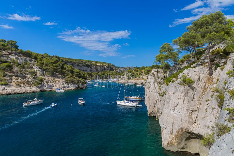 Calanque de Port Miou - fjord near Cassis France stock photos