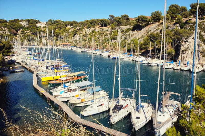 Calanque de Port Miou stock photo