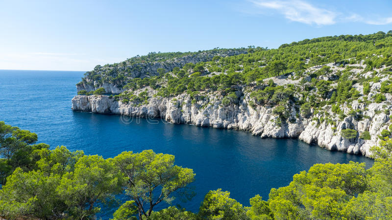 Calanque de Port-Pin Cassis stock photos