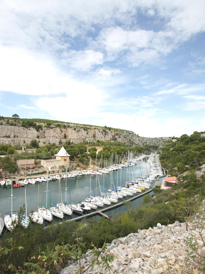 The Calanque Of  Port-Miou Stock Photography