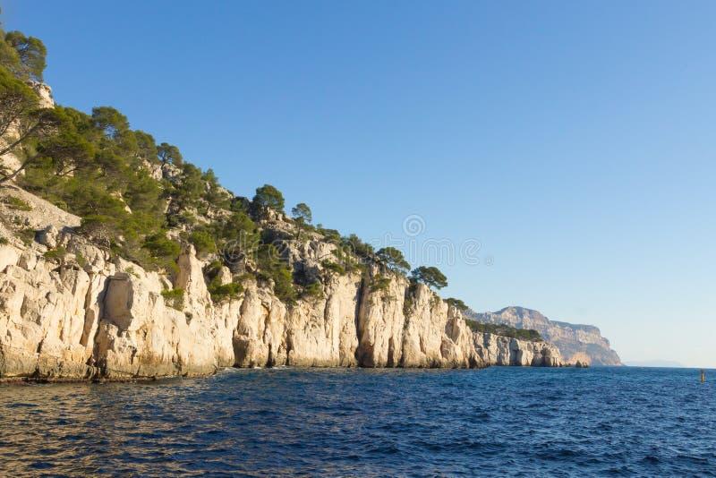 Calanques国家公园视图,法国 免版税图库摄影