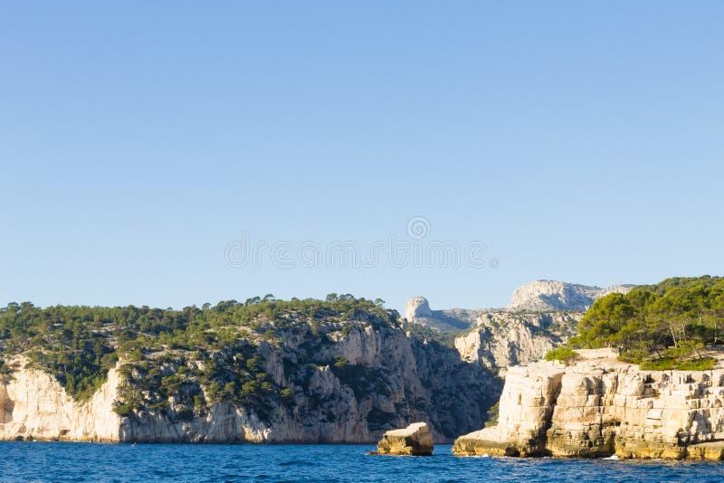 Calanques国家公园视图,法国 免版税库存照片