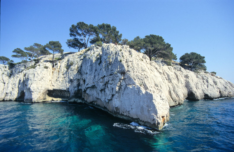 Calanques stock afbeelding