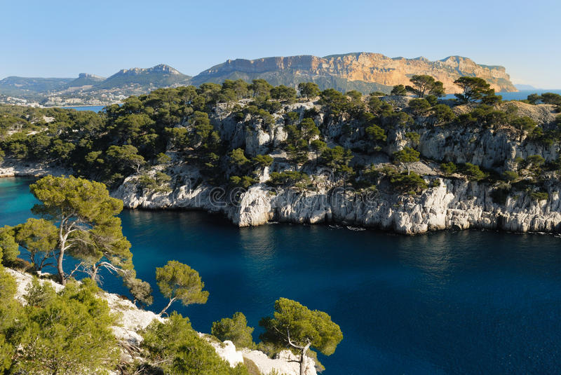Calanques of Cassis, France royalty free stock photography