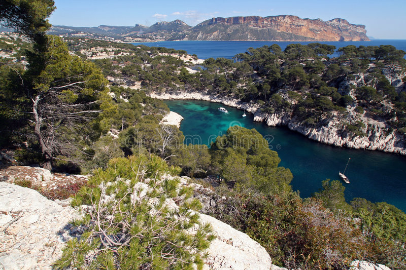 Calanques de cassis stock photos