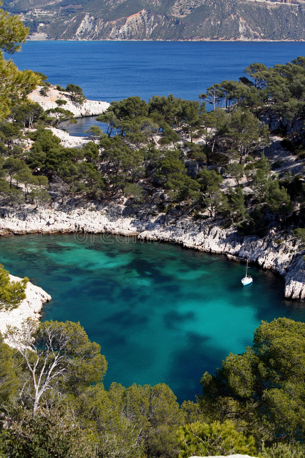 Calanques de cassis royalty free stock image