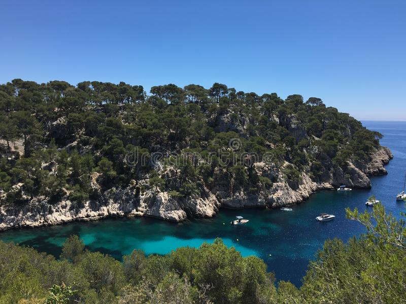 Calanques de Cassis royalty free stock photo
