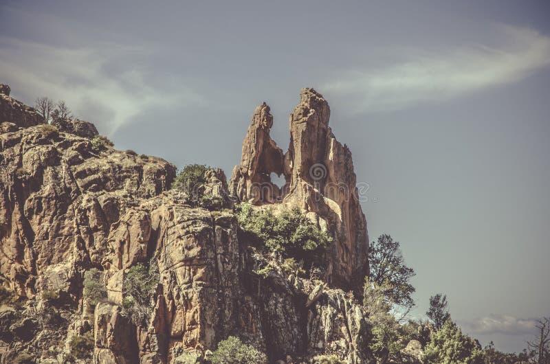Calanques de Piana in Korsika stockfotografie