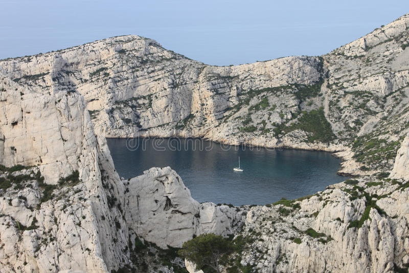 Calanques Gulf In Marseilles Stock Photos