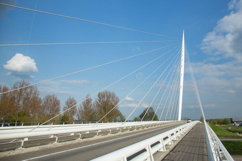 Calatrava Bridge Harp, Holland. Haarlemmermeer, the Netherlands - May 04, 2016 - Calatrava Bridge Harp is one of three bridges in the Haarlemmermeer, the stock images