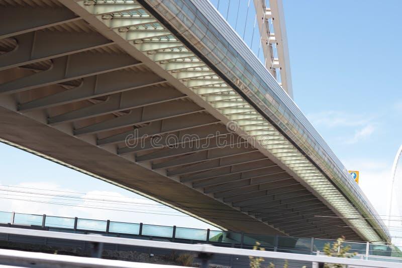 Calatrava Bridge. Over the main Italian Highway in Reggio Emilia, Italy stock photos