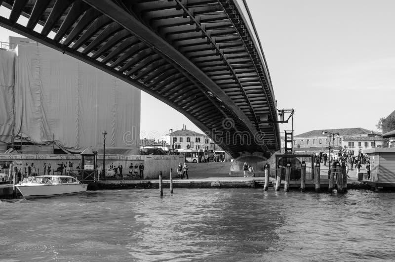 Calatrava Bridge in Venice. The Ponte della Costituzione (English: Constitution Bridge) is the fourth bridge over the Grand Canal in Venice, Italy. It was royalty free stock photos