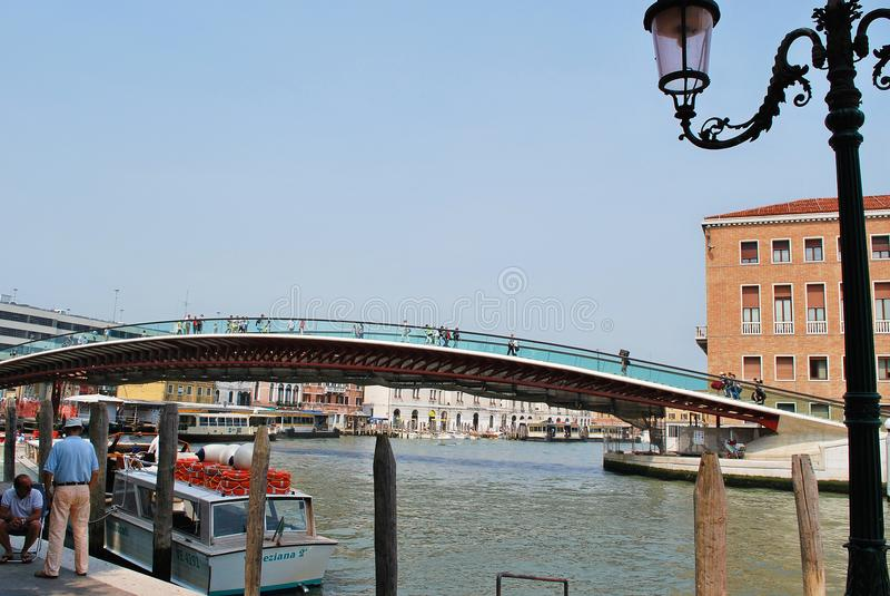 Calatrava bro arkivbild